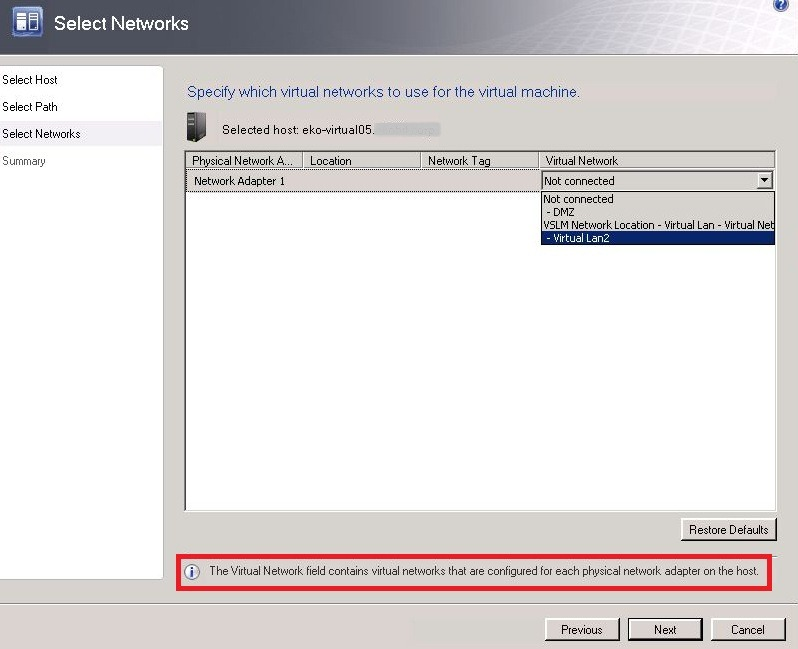 how to move a hyper v machine to another host