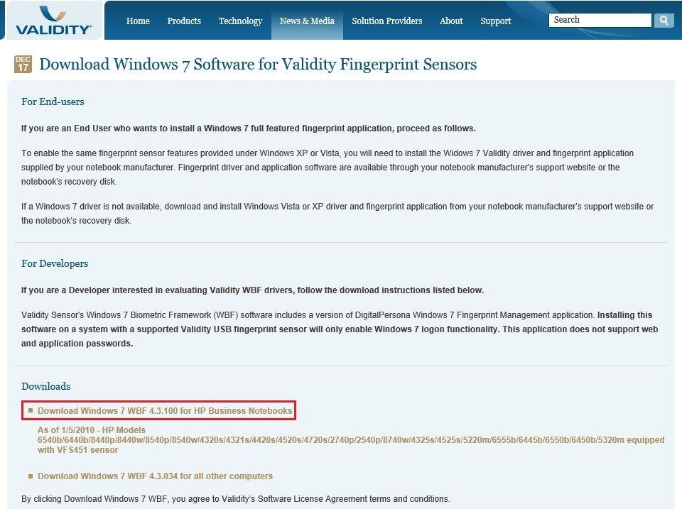 Hp Elitebook 8440p Fingerprint Driver Windows 10