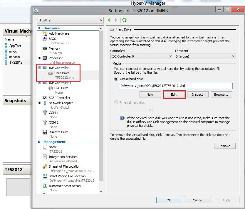 Convert VHD to VHDX with Hyper-V manager in Windows 8