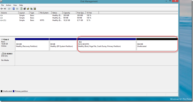 Online VHDX resize [WS2012R2 & W8 1 Preview]   Admin troubles by